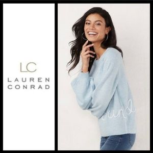 LC Lauren Conrad Sunday Balloon-Sleeve Sweater NWT